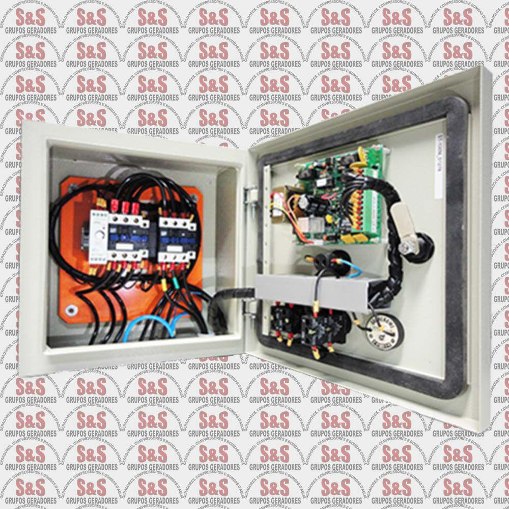 Quadro de transferência automática (QTA) - Trifásico 220V - 30 KVA - 80 Ampéres - Strazmaq