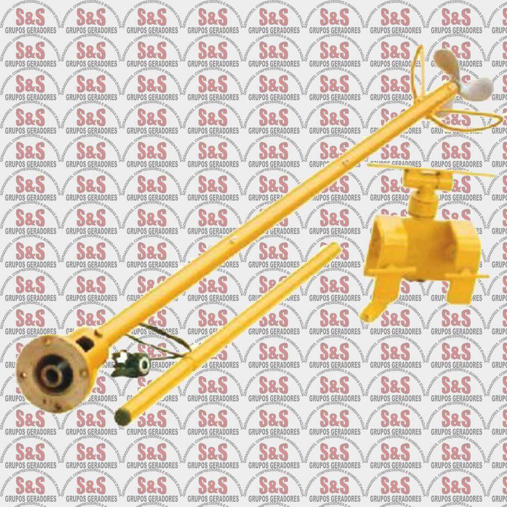 Rabeta completa para Motores 4 Tempos 5.5 HP 6.5 HP e 7.0 HP - Comprimento 1,70m - Buffalo