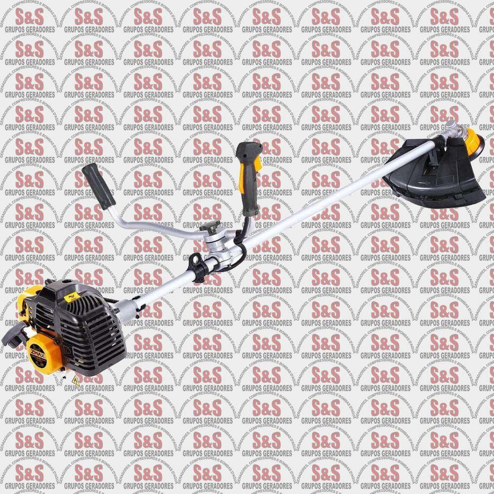 Roçadeira a Gasolina - 2 Tempos - Refrigerado a Ar - Motor 51,7cc - BCB52 - ZMAX