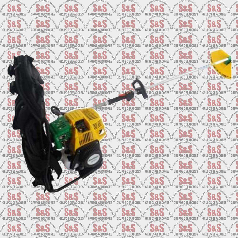 Roçadeira Costal a Combustão - Motor de 4,2cc 1,7HP - Partida Manual - Refrigerado a Ar - BG430 - Garthen