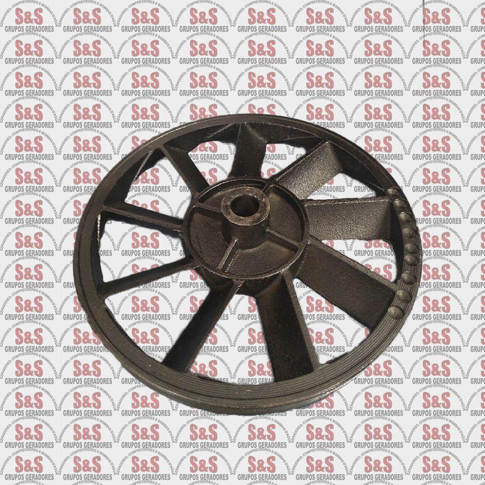 Volante 253MM Compressor de ar Motomil - (CMV-6 CMV-7,6 CMV-10PL)