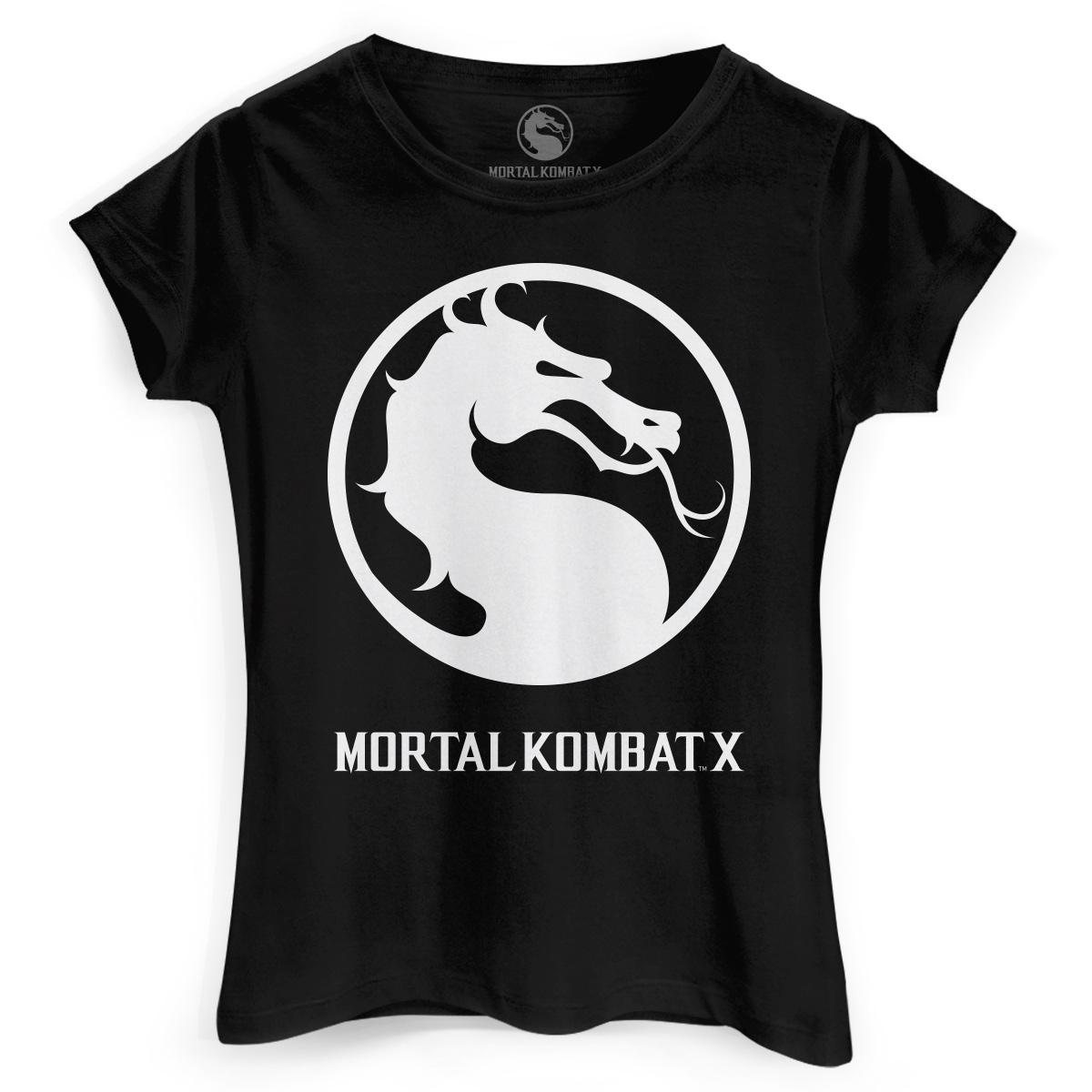 Camiseta Feminina Mortal Kombat X Logo  - bandUP Store Marketplace
