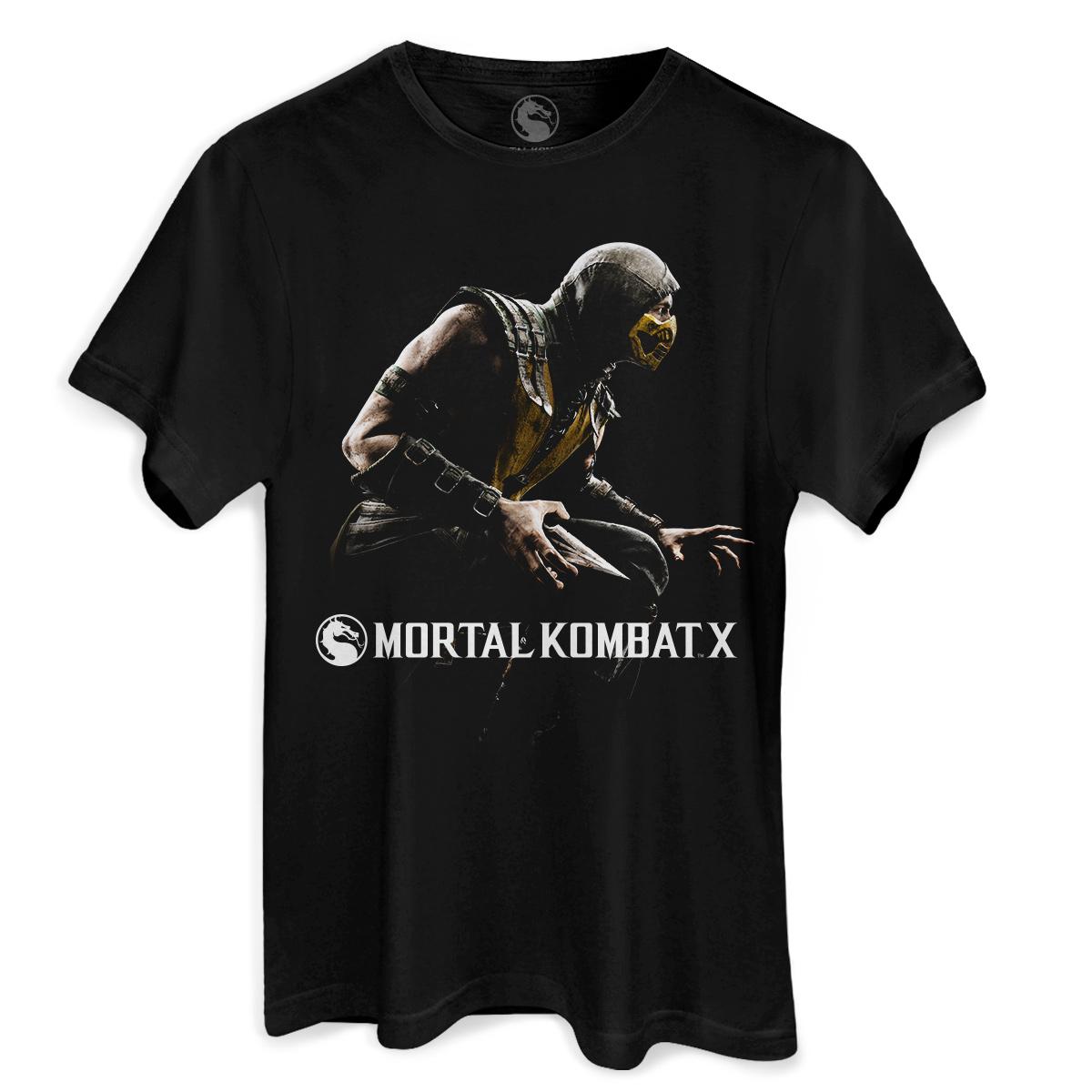 Camiseta Masculina Mortal Kombat X Capa  - bandUP Store Marketplace