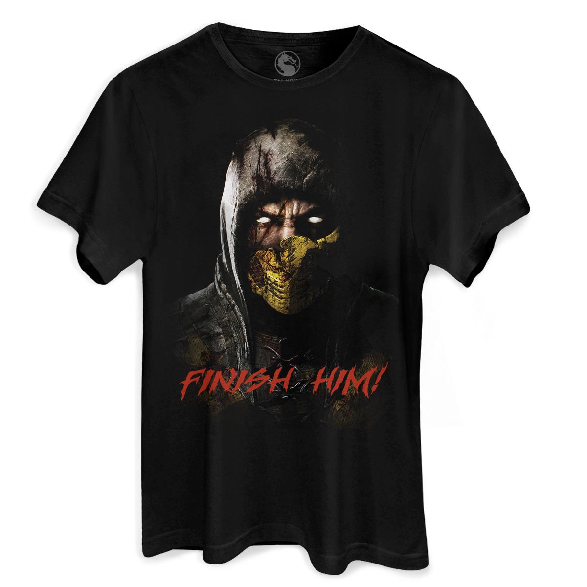 Camiseta Masculina Mortal Kombat X Finish Him  - bandUP Store Marketplace