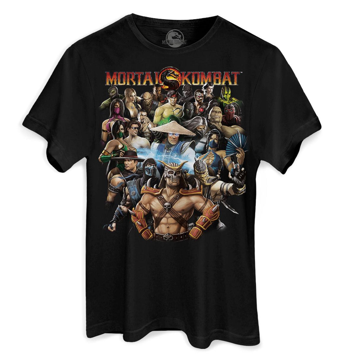Camiseta Masculina Mortal Kombat Personagens  - bandUP Store Marketplace
