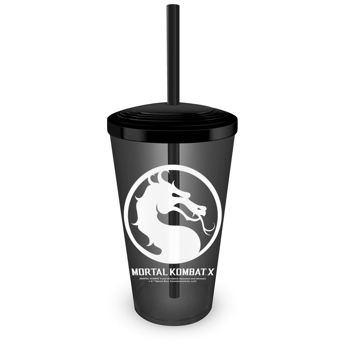 Copo Acrílico Fumê Mortal Kombat Logo  - bandUP Store Marketplace