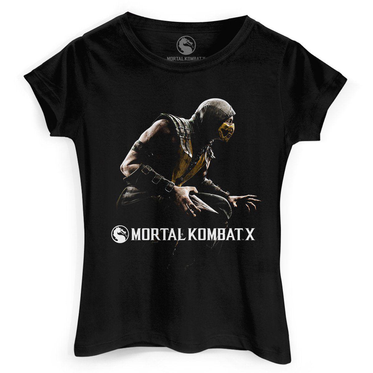 Camiseta Feminina Mortal Kombat X Capa  - bandUP Store Marketplace