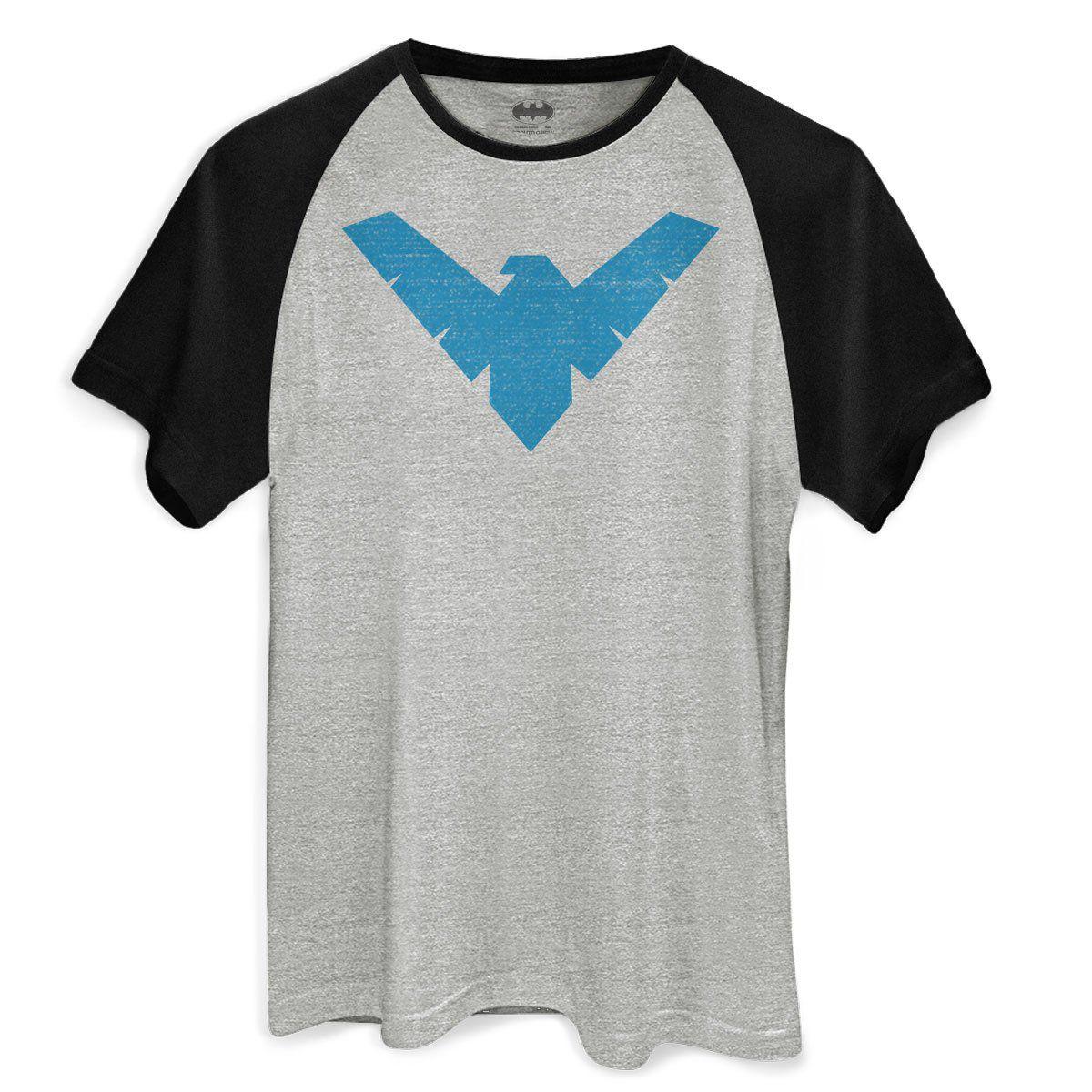 Camiseta Raglan Masculina Batman Nightwing Symbol  - bandUP Store Marketplace