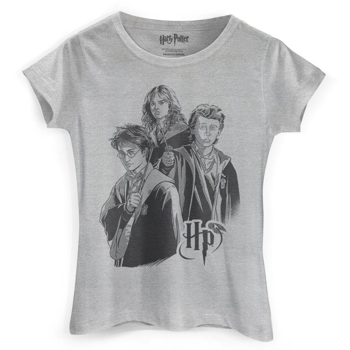 Camiseta Feminina Harry Potter Trio  - bandUP Store Marketplace