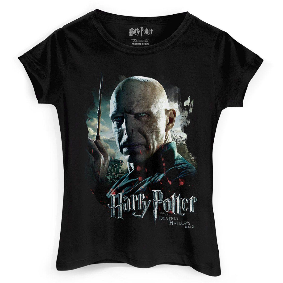 Camiseta Feminina Harry Potter Voldemort  - bandUP Store Marketplace