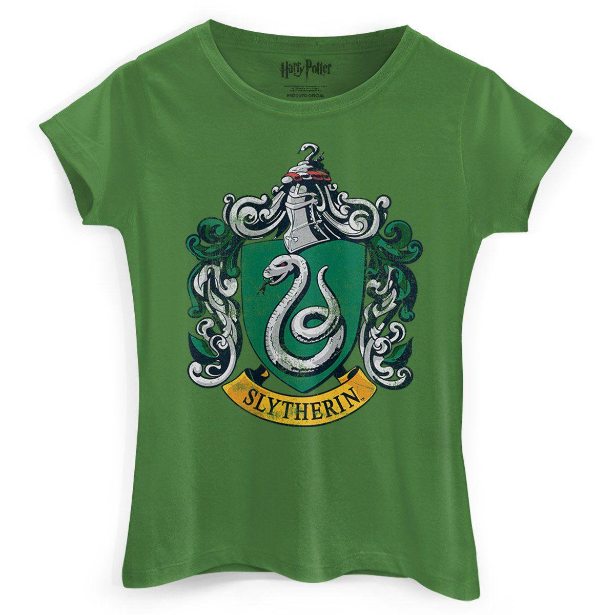 Camiseta Feminina Harry Potter Slytherin  - bandUP Store Marketplace