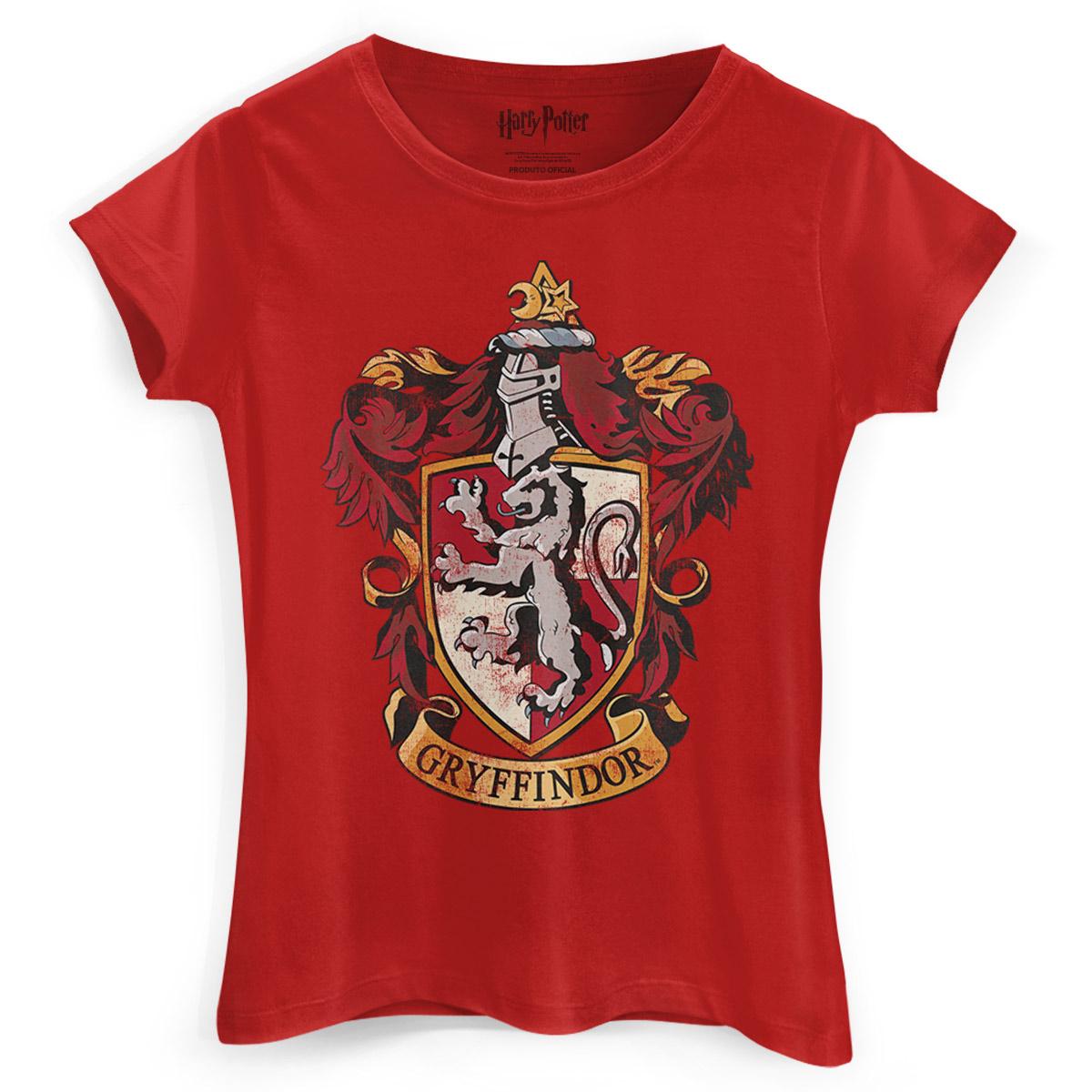 Camiseta Feminina Harry Potter Gryffindor  - bandUP Store Marketplace