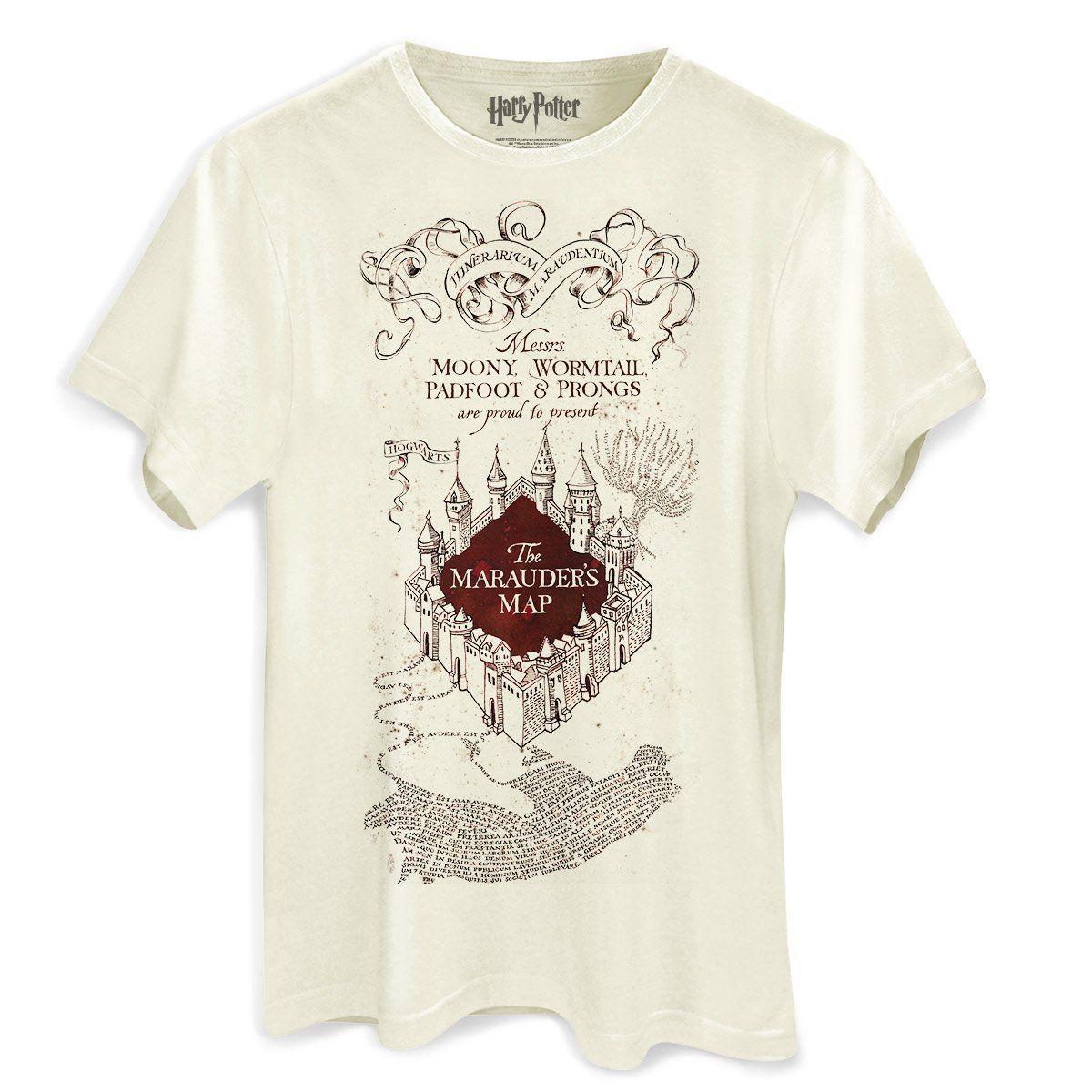 Camiseta Masculina Harry Potter The Marauder´s Map  - bandUP Store Marketplace