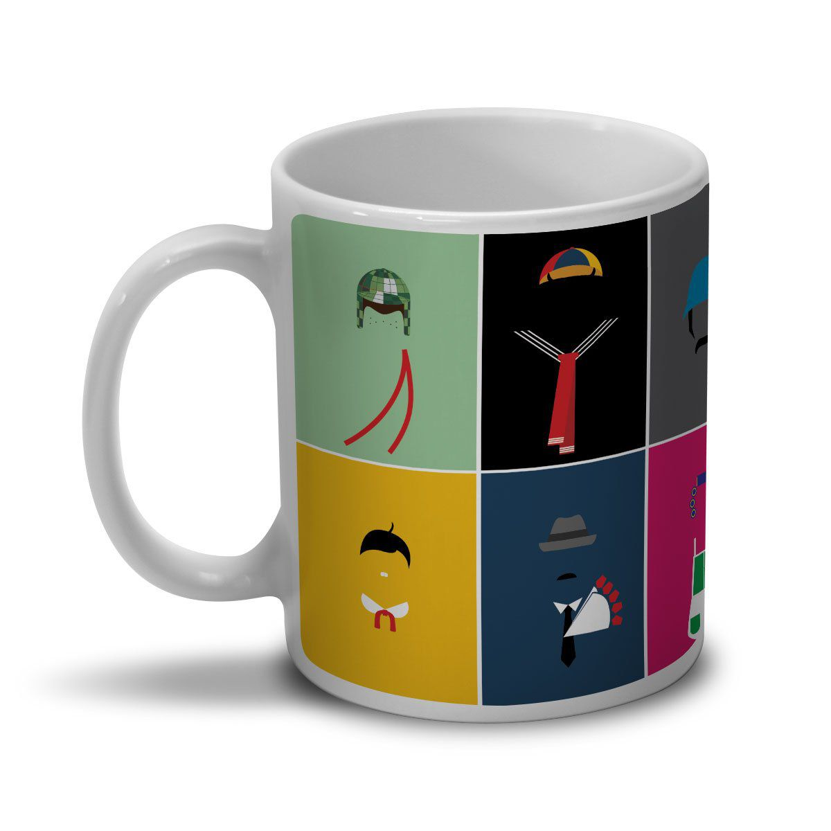 Caneca Chaves Ícones Vintage  - bandUP Store Marketplace