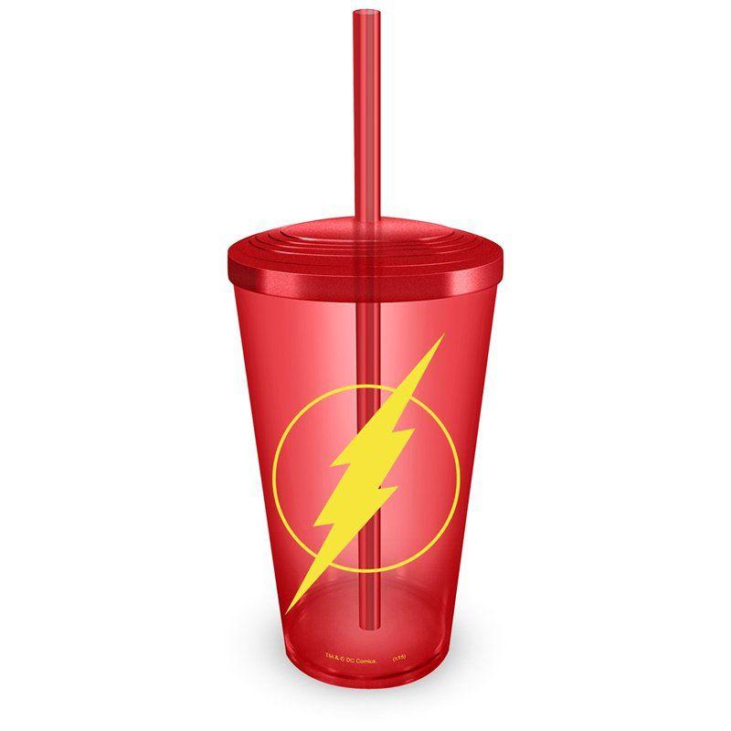Copo Acrílico Vermelho The Flash Logo  - bandUP Store Marketplace
