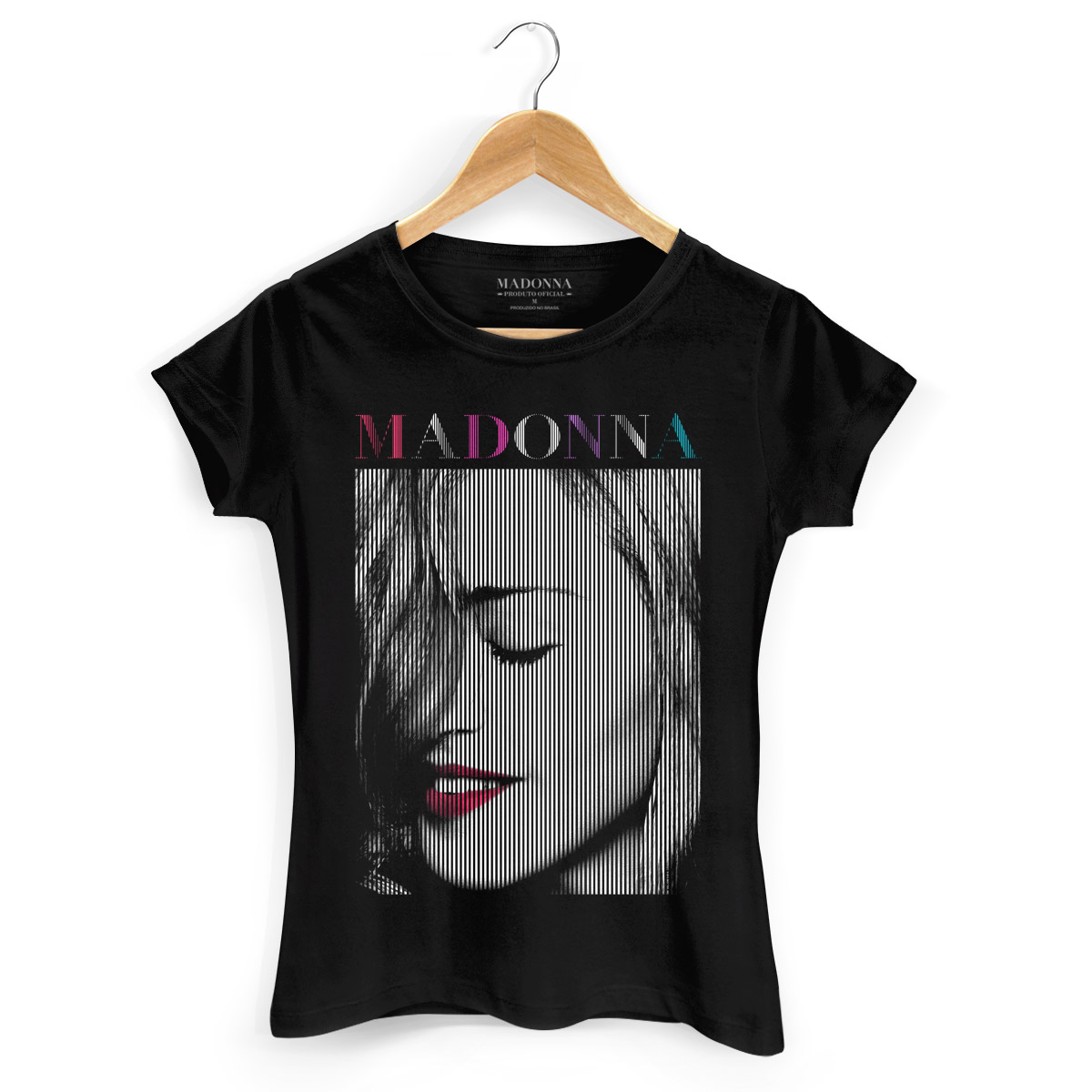 Camiseta Feminina Madonna Red Lips  - bandUP Store Marketplace