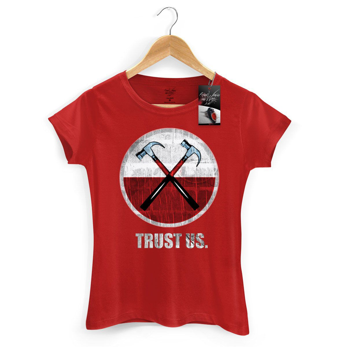 Camiseta Feminina Roger Waters The Wall Ao Vivo Martelos 2  - bandUP Store Marketplace