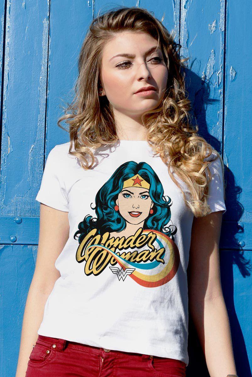 Camiseta Feminina Mulher Maravilha Photo DC Comics  - bandUP Store Marketplace