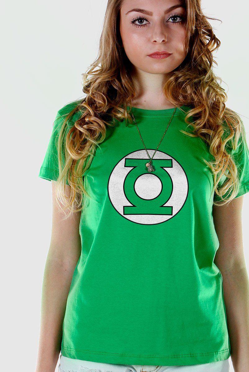 Camiseta Feminina Lanterna Verde Logo  - bandUP Store Marketplace