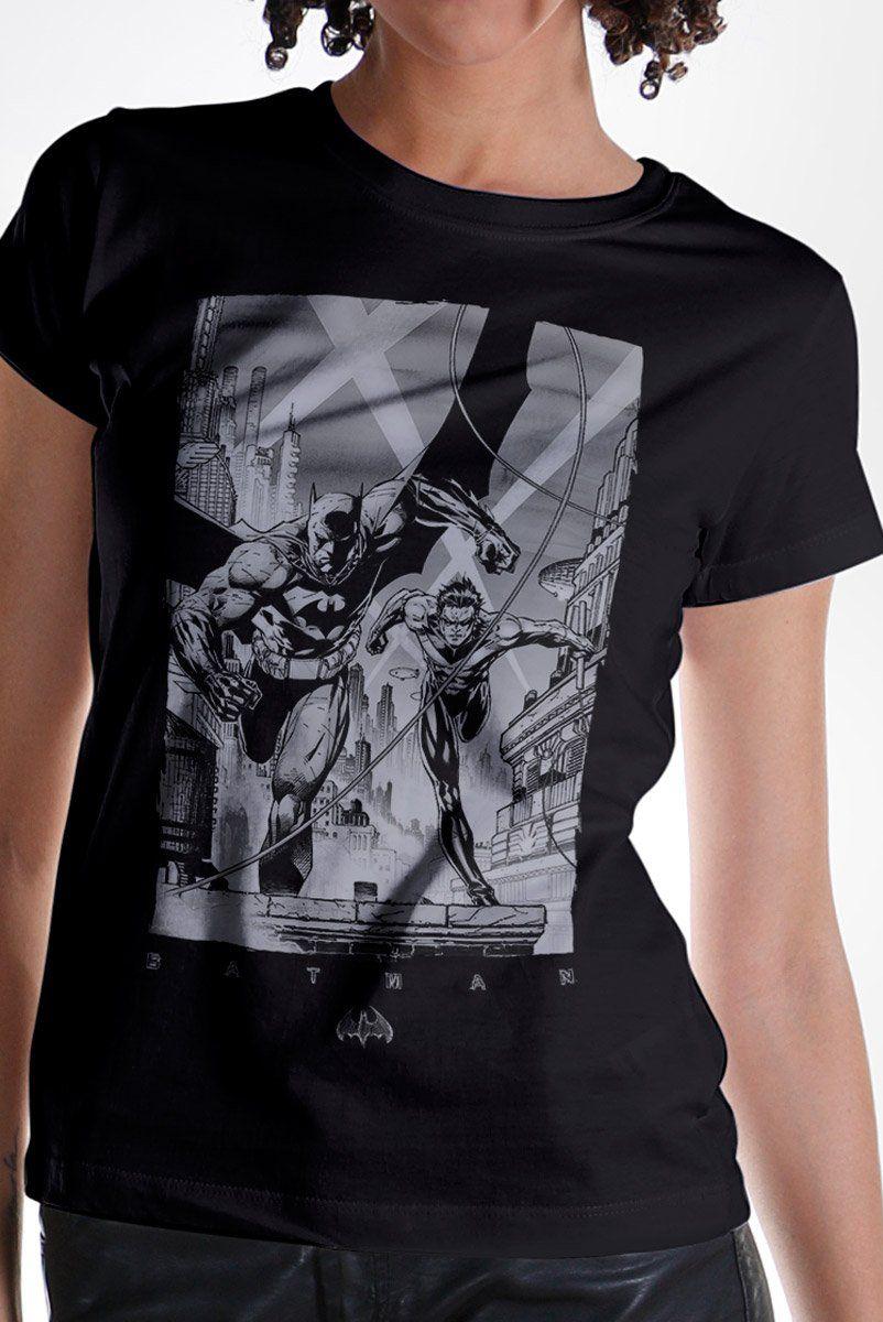 Camiseta Feminina Tracing Batman e Robin  - bandUP Store Marketplace