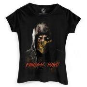 Camiseta Feminina Mortal Kombat X Finish Him