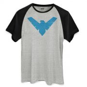 Camiseta Raglan Masculina Batman Nightwing Symbol
