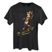 T-shirt Premium Masculina Harley Quinn Gotham or Bust!