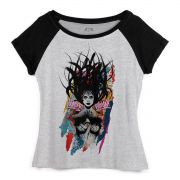 Camiseta Raglan Feminina Wonder Woman Anarchy