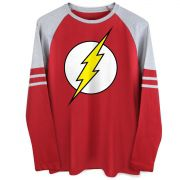 Blusa Raglan Masculina The Flash Logo