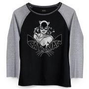 Camiseta Raglan Feminina Catwoman