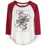 Camiseta Raglan Feminina Harley Quinn Danger Card