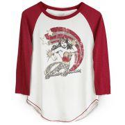 Camiseta Raglan Feminina Wonder Woman Power Stars