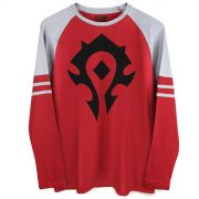 Blusa Manga Longa Masculina World of Warcraft Horda