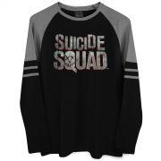 Blusa Raglan Masculina Esquadrão Suicida Logo
