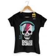Camiseta Feminina 89FM A Rádio Rock Thunder Skull