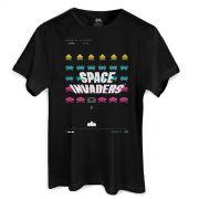 Camiseta Masculina Space Invaders Laser Base