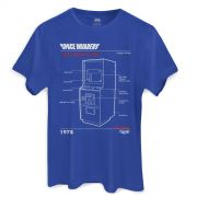 Camiseta Masculina Space Invaders Upright Cabinet Blue
