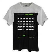 Camiseta Masculina BiColor Space Invaders Arcade