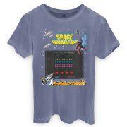 T-shirt Premium Masculina Space Invaders Screen