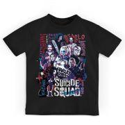 Camiseta Infantil Esquadrão Suicida Cast Oficial