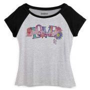 Camiseta Raglan Feminina TodaTeen Love is Colorful!