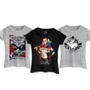 Kit Com 3 Camisetas Femininas Para as Malvadas