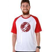 Camiseta Raglan Premium Masculina The Flash Serie Tracing Logo