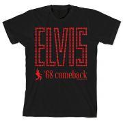 Camiseta Masculina Elvis 68 Comeback Dancing Black