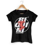 Camiseta Feminina Biquini Cavadão Logo Ao Vivo
