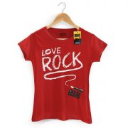 Camiseta Feminina 89 FM Love Rock