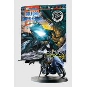 Boneco Miniatura Especial Batman e sua Moto + Revista
