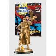 Boneco Miniatura Especial Superman Gold + Revista