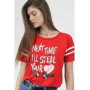 Camiseta Athletic Feminina Batman e Catwoman Vou roubar seu Coração