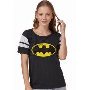 Camiseta Athletic Feminina Batman Logo Clássico